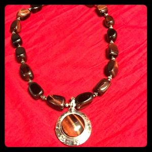Jewelry - Tiger eye sterling Necklace